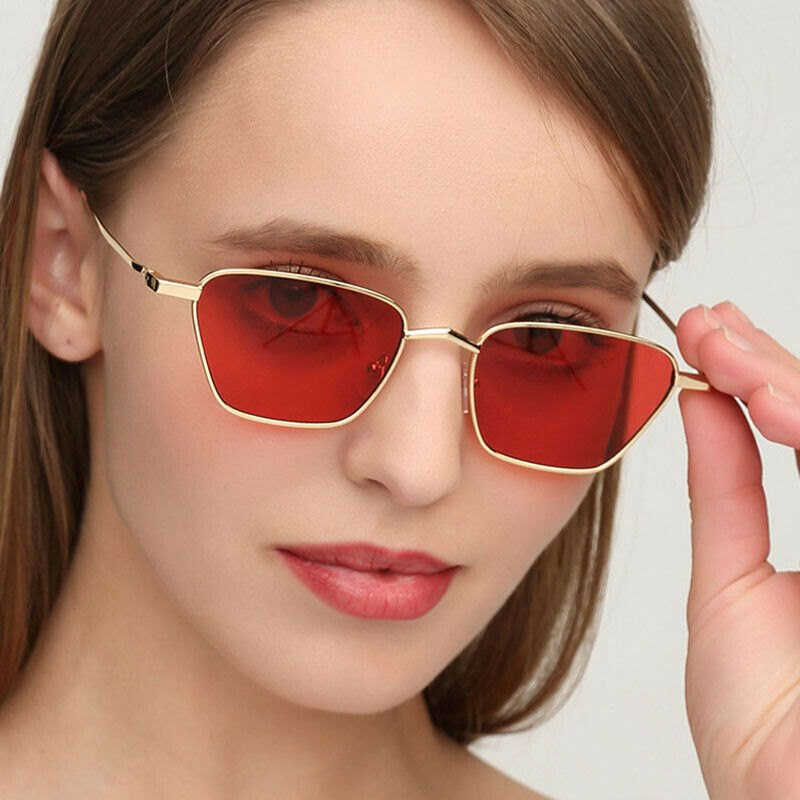 Retro Gradient Color Lens Eye Glasses