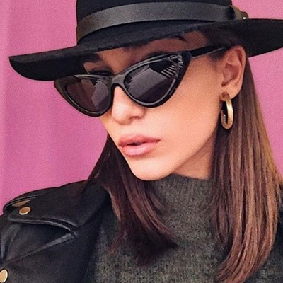 Cat Eye Triangle Sunglasses UV400