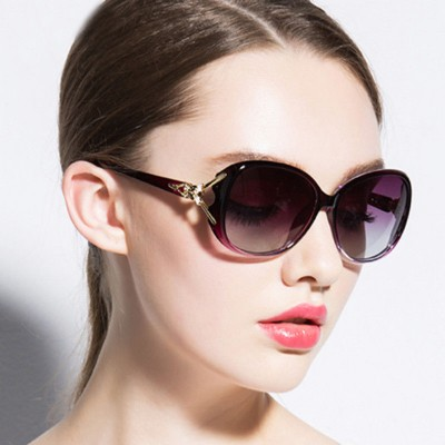 Vintage Gold Fox Shaped Oversized sunglasses