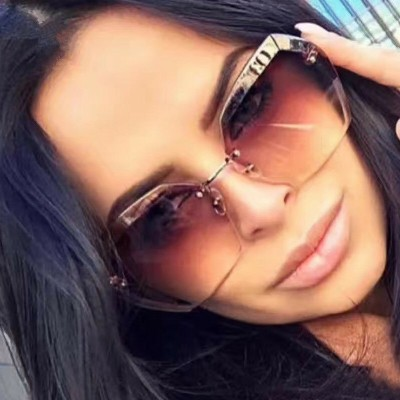 Luxury Rimless Vintage Shades Sun Glasses