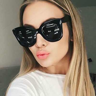 Luxury Big Black Sun Glasses oversize