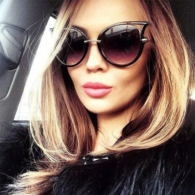 Cat Eye Oversized Fashion Style Sunglasses