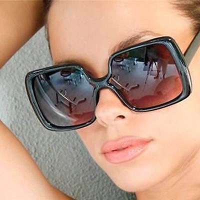 Large Retro Oversized Women Gradient Lens