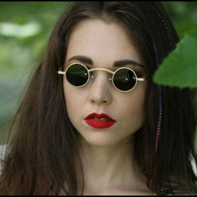 Hippie Round Sunglasses Retro Steampunk Shades Glasses