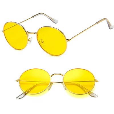Round Retro Vintage Style Hippie Glasses