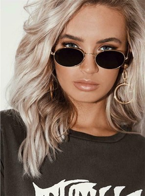 Hip-hop Style Sunglasses Retro Small Oval Glasses