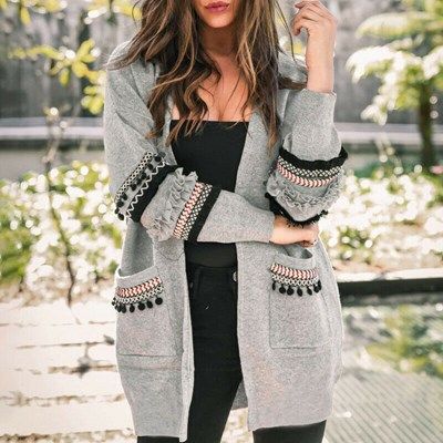 Cardigan Coat Warm Fashion Long Sleeve