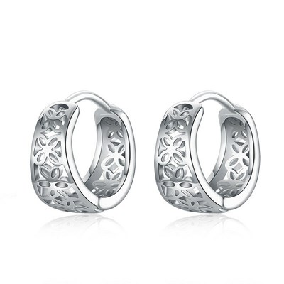 Punk Stainless Steel Ear Hoop Earrings