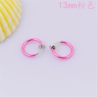 Septum 2x Fake Clip On Spring Nose Hoop