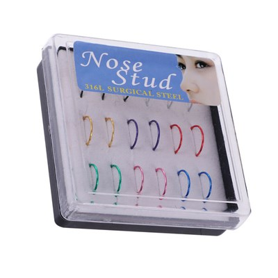 36pcs Stainless Steel Ring Tragus e Nose
