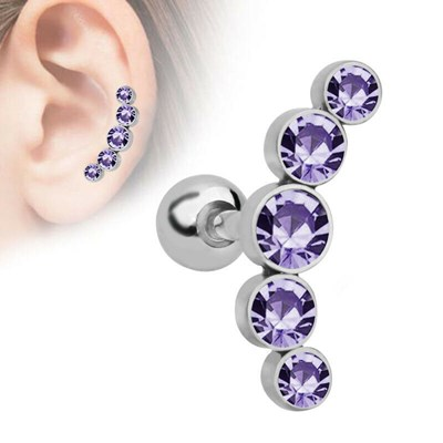 Cartilage Helix Tragus Piercing Ear Stud Earrings
