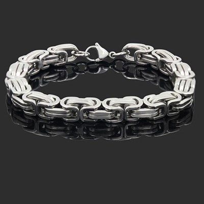 Stainless Steel Silver Chain Link Bracelet Punk
