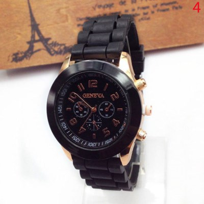 Silicone Rubber Women Jelly Gel Quartz Watch