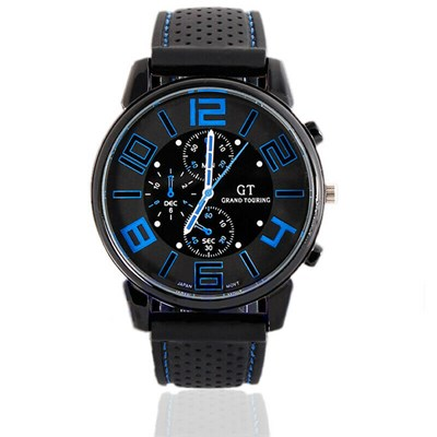GT Vogue Sport Stainless Steel Silicone Watch