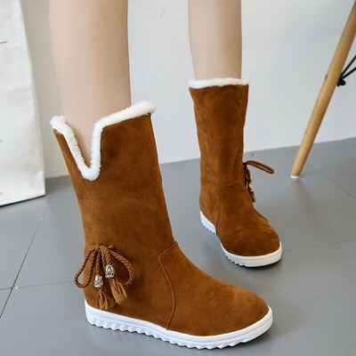 Ladies Snow Autumn Fleece Lined Casual Boots
