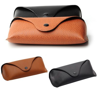 Portable Leather Sunglasses Holder Box