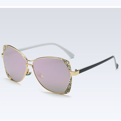 Polarized purple Mirrored sunglasses