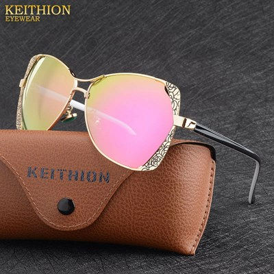 Polarized pink Mirrored sunglasses