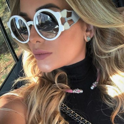 Oversized Round Women sunglasses